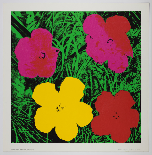 Andy Warhol, 'Flowers', 1964/1978, Silk screen poster, Capsule Gallery Auction