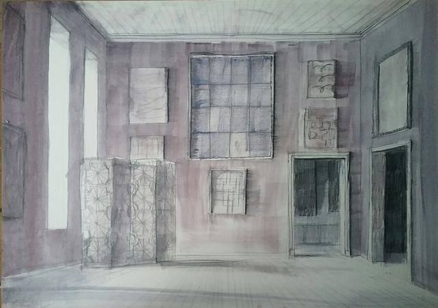 , 'Purple Room with Screen,' 2018, Octavia Art Gallery