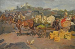 Lidya Stanislavovna Nefedova, 'In the afternoon', 1956, Painting, Oil on canvas, Surikov Foundation