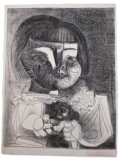 , 'Paloma et sa Poupée sur Fond Noir,' 1952, John Szoke