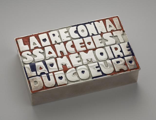 , 'La reconnaissance est la mémoire du Coeur, Box,' 1942-1950, Maison Gerard