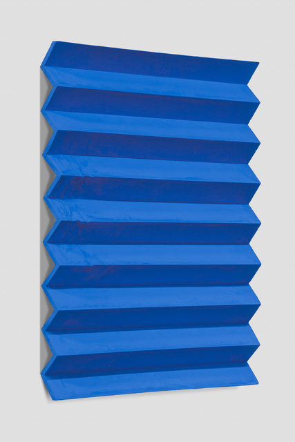 , 'Calenture (Accordion Fold, Phthalo Blue),' 2017, Anthony Meier Fine Arts