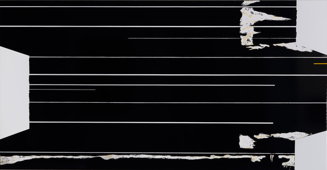 Ronald de Bloeme, '(Black) Gift', 2008, Painting, Matte and high-gloss lacquer on canvas, BorzoGallery