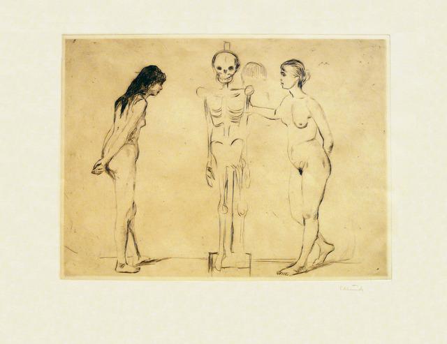 Edvard Munch, 'Kvinnene ved skjelettet (The Women and the Skeleton)', 1896, Modernism Inc.