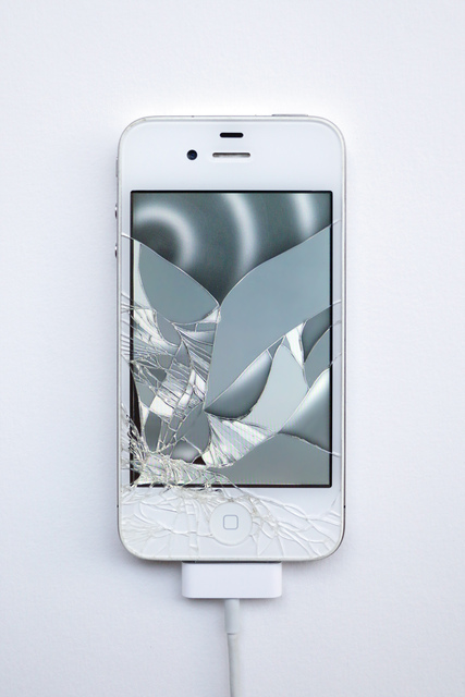 , 'Return of the Broken Screens (Apple iPhone 4 II),' 2016, Steve Turner