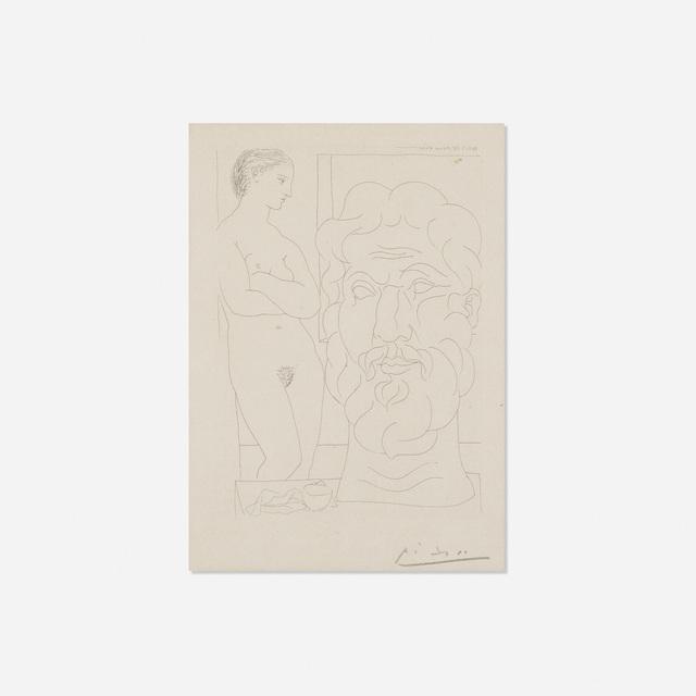 Pablo Picasso, 'Modele et Grande Tete sculptee from La Suite Vollard', 1933, Rago/Wright