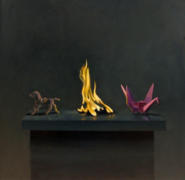 Neil Christensen, 'Fire Series #2', 2016, Painting, Oil on panel, Kiechel Fine Art