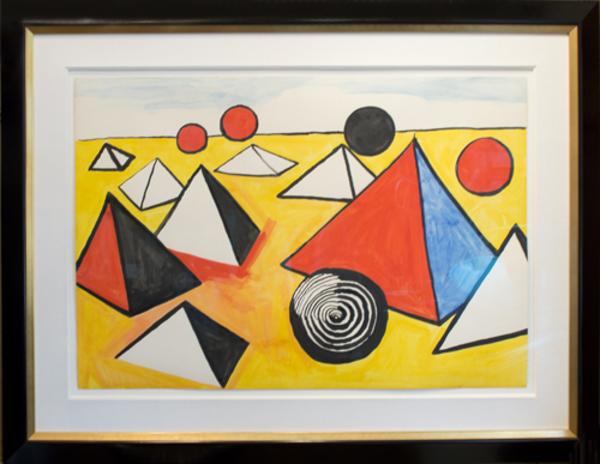 , 'Pyramids and Circles,' ca. 1970, David Barnett Gallery