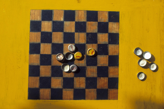 , 'Yellow and Black Chess,' 1985, Christopher Grimes Gallery