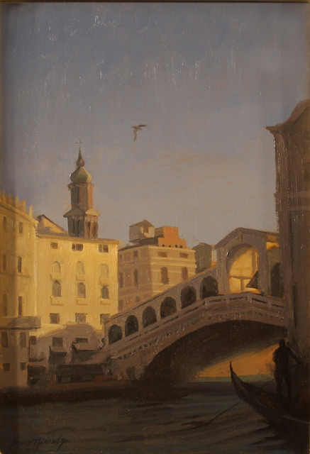 , 'Dusk, Ponte di Rialto, Venice,' 2017, Susan Calloway Fine Arts