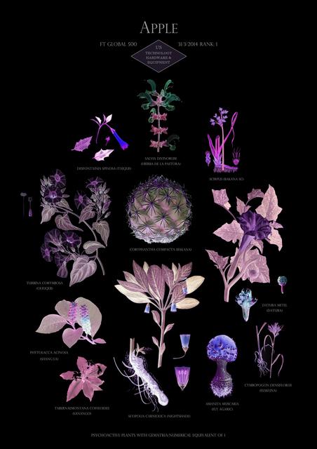 , 'HFT The Gardener/Botanical Prints/Rank 1: Apple - US - Technology Hardware & Equipment,' 2014-2015, Annely Juda Fine Art
