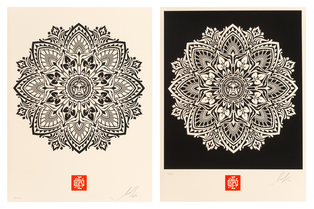 Shepard Fairey (OBEY), 'Pair of Japanese Mandala Patterns', 2010, Heritage Auctions