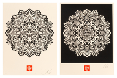 Pair of Japanese Mandala Patterns