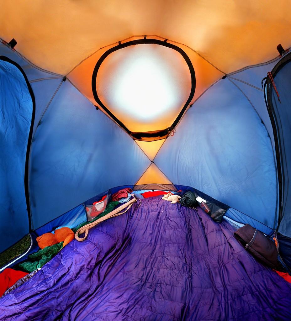 "Raissa Venables, ""Opened Tent"", C-print on Dibond, 53"" x 48"""