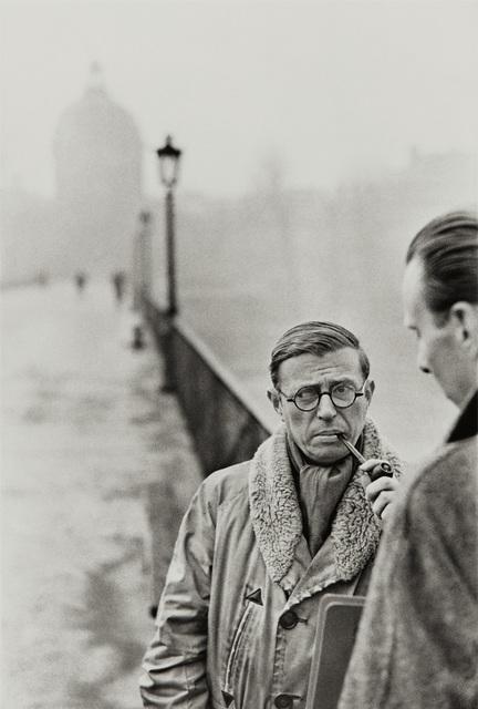 Henri Cartier-Bresson, 'Jean-Paul Sartre, Le Pont des Arts, Paris', 1946, Phillips
