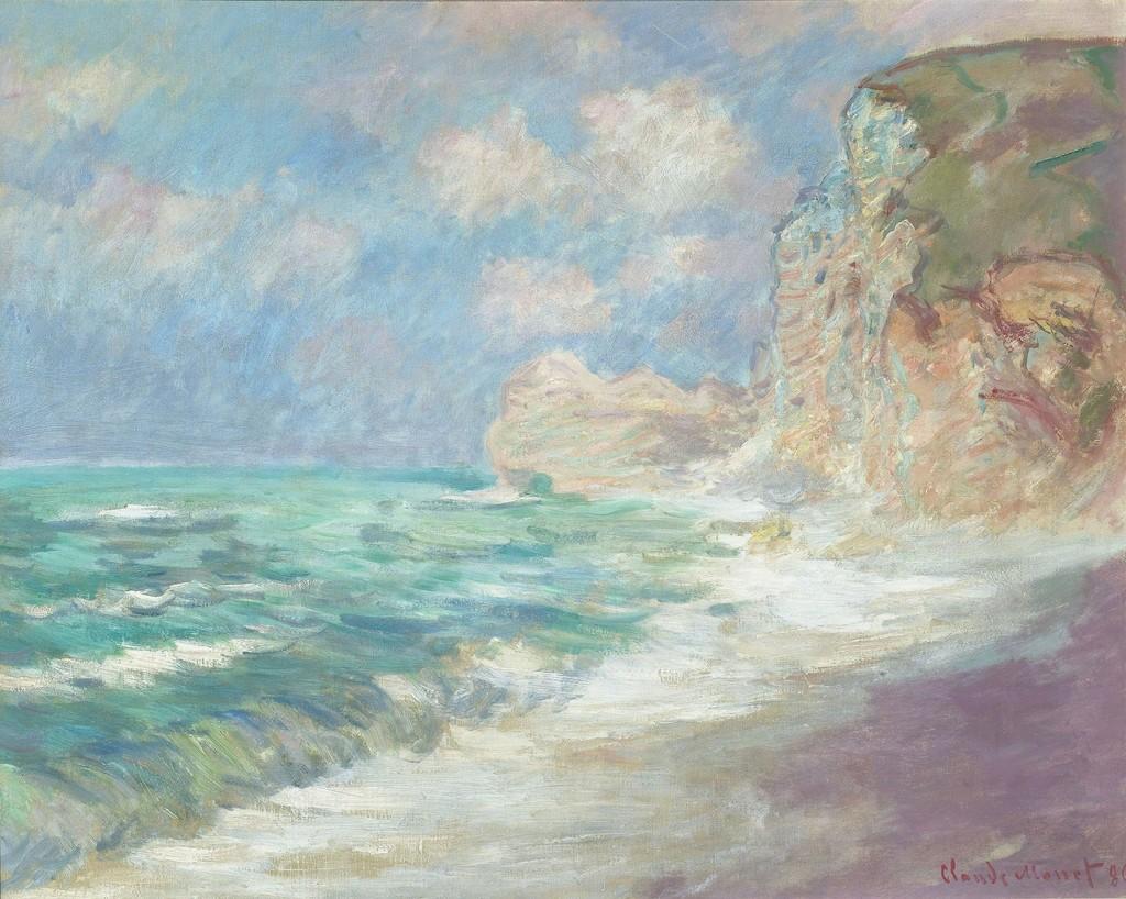 Claude Monet Falaise Et Porte D Amont Par Gros Temps 1886