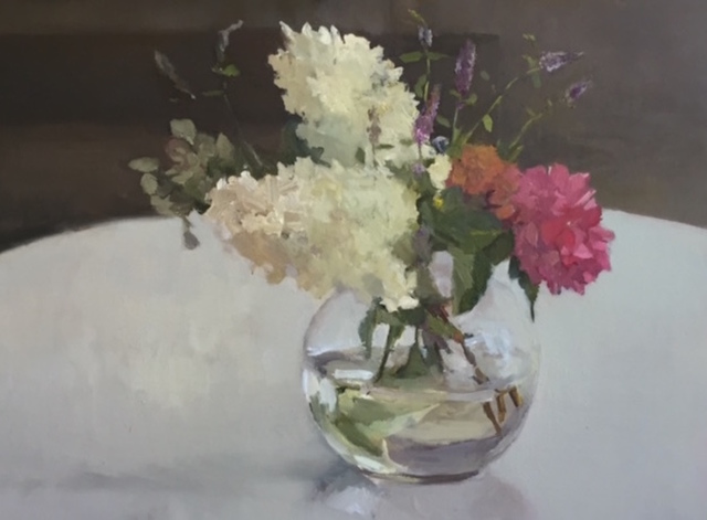 , 'Hydrangeas in Round Glass,' 2016, Grenning Gallery
