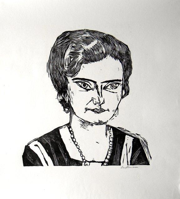 Max Beckmann, 'Bildnis Frau H.M. Naila', 1923, Artsnap