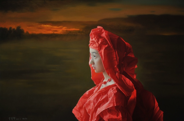 , 'Red Paper Bride - The Setting Sun,' 2015-2016, Tanya Baxter Contemporary