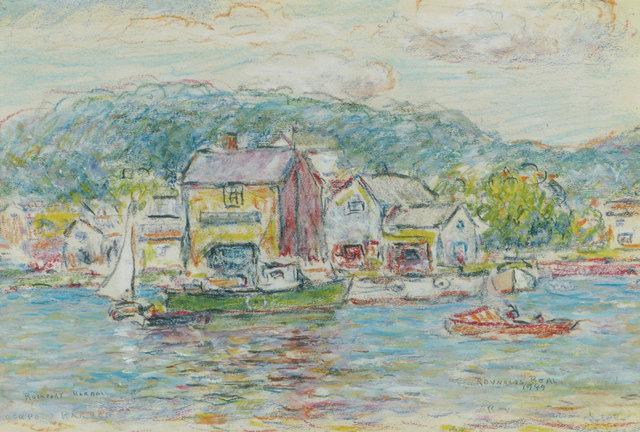 Reynolds Beal, 'Rockport Harbor, Massachusetts', 1949, Vose Galleries