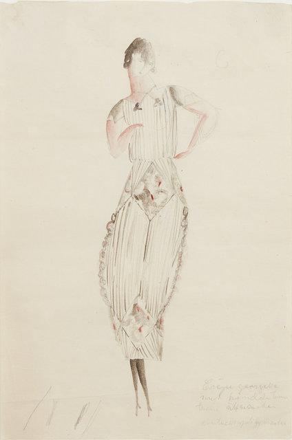 , 'Plisserad klänning med rombdekor,' 1917-1921, CFHILL
