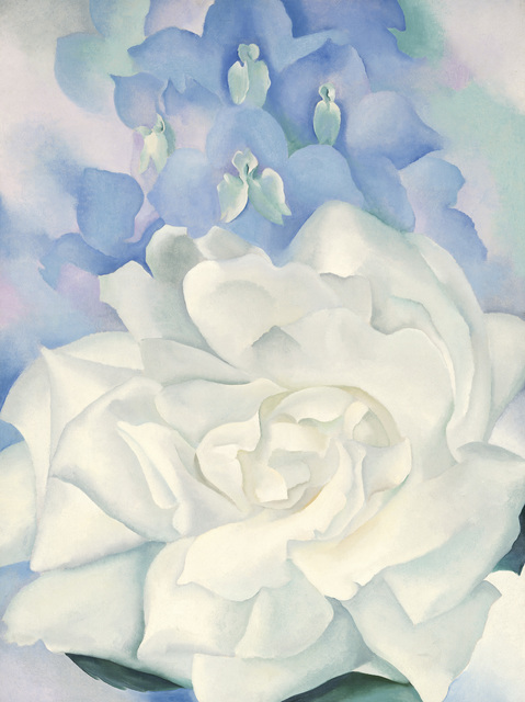 , 'White Rose with Larkspur No. 2,' 1927, Museum of Fine Arts, Boston