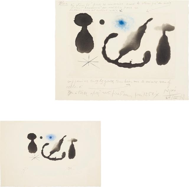 Joan Miró, 'Saint James Park au crépuscule (Saint James Park at Dusk): two impressions', 1958, Phillips