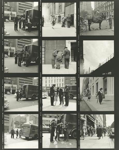 , 'VM1953W03080-04-MC - Untitled (Contact Sheet) - Horse and Police,' Printed 2017, KP Projects