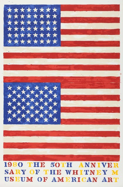 Jasper Johns, 'Two Flags (Whitney Museum of American Art 50th Anniversary)', 1979-1980, Heritage Auctions
