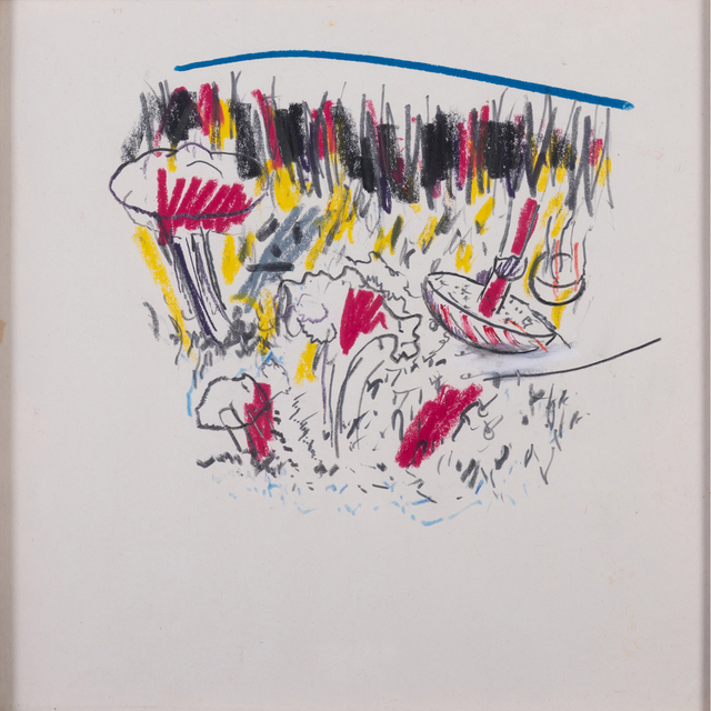 Martial Raysse, 'Untitled', circa 1974, Drawing, Collage or other Work on Paper, Pastel and pencil on paper, PIASA