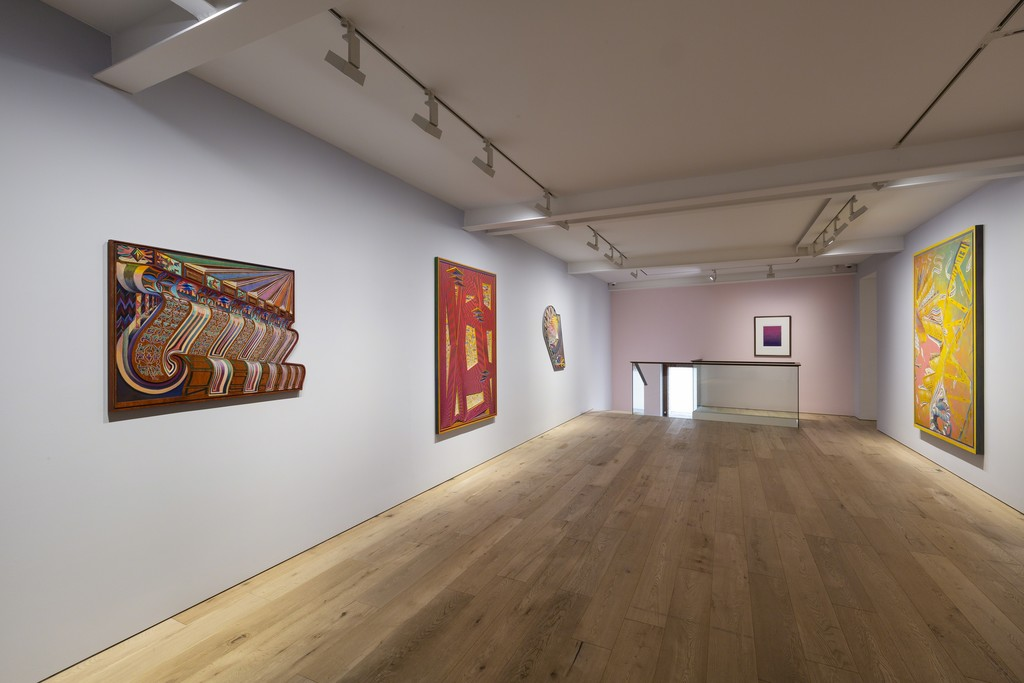 """Installation view of Zach Harris' solo exhibition """"Sunset Strips to Soul"""" at Perrotin, Seoul, 2018.  Photo: Youngha Jo  Courtesy the Artist and Perrotin"""