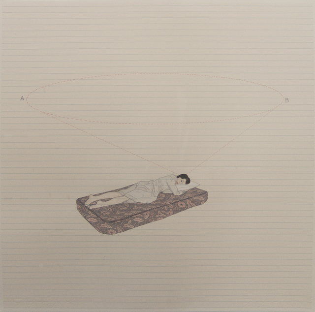 , 'Calcule el tiempo, durmiendo, para ir de un punto a otro.,' 2014, Galería Sextante