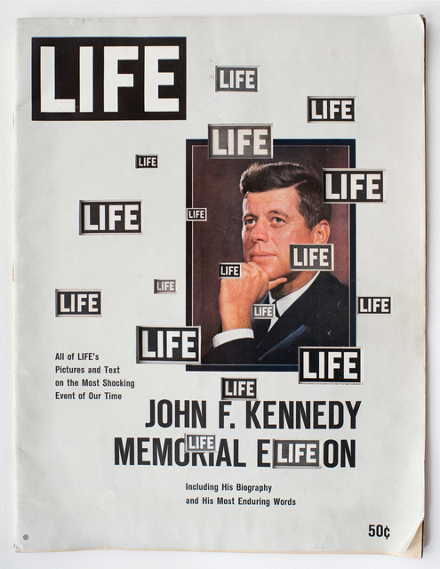 , 'LIFE  Cutout  No.  119  (December  14,  1963,  LIFE  B/W  JFK),' 2018, Luis De Jesus Los Angeles