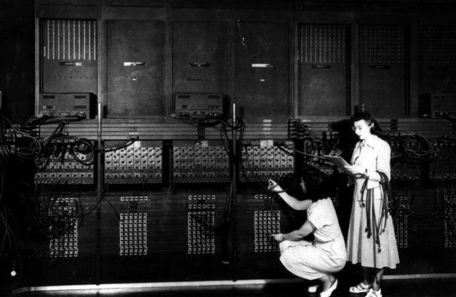 , 'Two Women Wiring the Right Side of the ENIAC with a New Program,' 1946, New York Historical Society