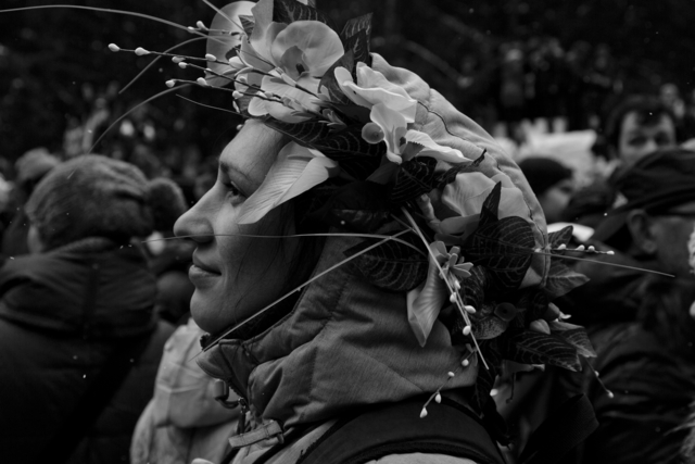, 'Lady and garland (Maslenitsa pagan festival, Moscow),' 2013, Pushkin House