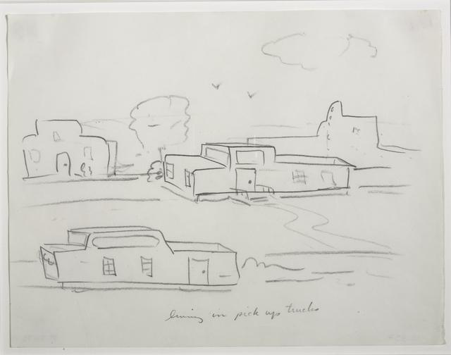 , 'Living in Pick-Up Trucks,' 1973, Magenta Plains