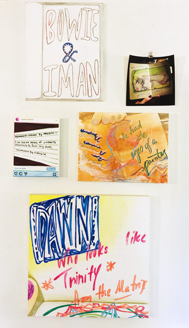 Malado Baldwin, 'Books about Love (painting suite)', 2020, Mixed Media, Mixed media on four canvases and one photograph., New York Studio School