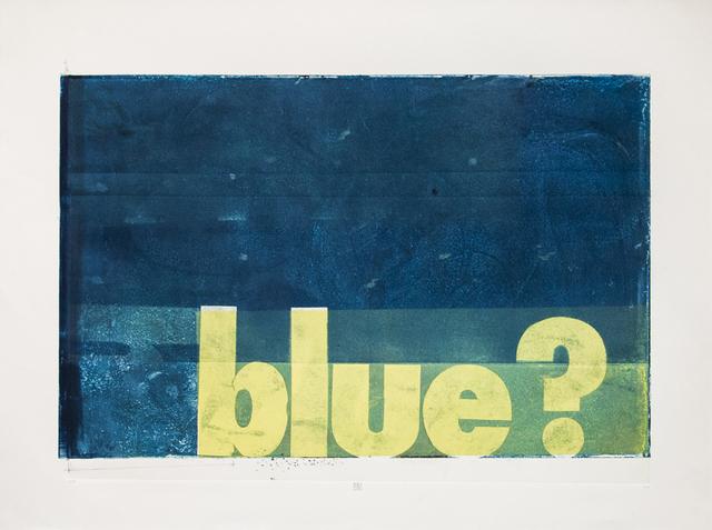 , 'blue?,' 2015, Susan Eley Fine Art