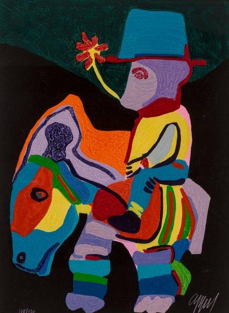 Karel Appel, 'L'Ane trop paisible pour les Enfants cruels, pl. 9, from Circus II', 1978, Heritage Auctions