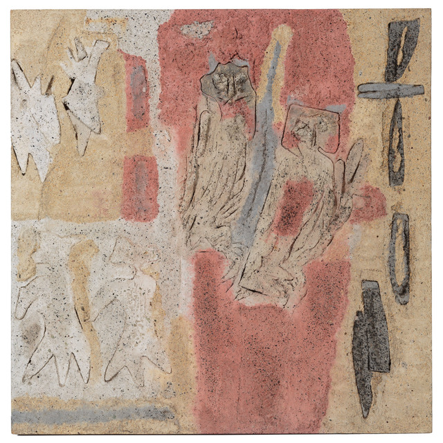 , 'Ugglorna/Senapsträdet och himlens fåglar,' 1961, Andréhn-Schiptjenko