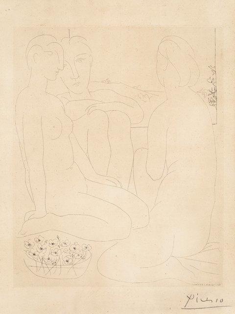 Pablo Picasso, 'Trois femmes nues près d'une fenêtre, from La Suite Vollard', 1933, Print, Etching on Montval paper, Heritage Auctions