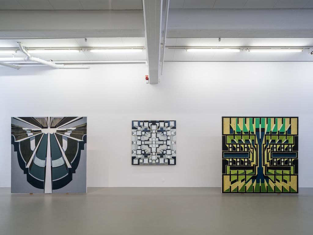 Installation view, Linnea Rygaard, Up Where We Belong, 2019, Cecilia Hillström Gallery. Photo: Jean-Baptiste Béranger