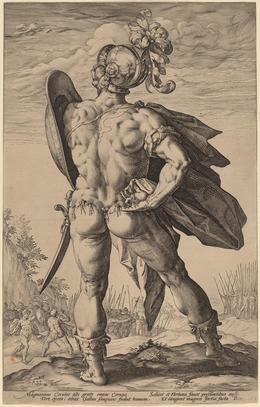 Hendrik Goltzius, 'Marcus Valerius Corvus', probably 1586, National Gallery of Art, Washington, D.C.