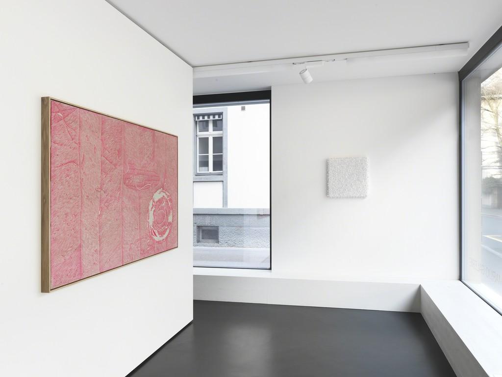 Installation View 4: Works by Nils Erik Gjerdevik (l) and Lars Christensen (r)