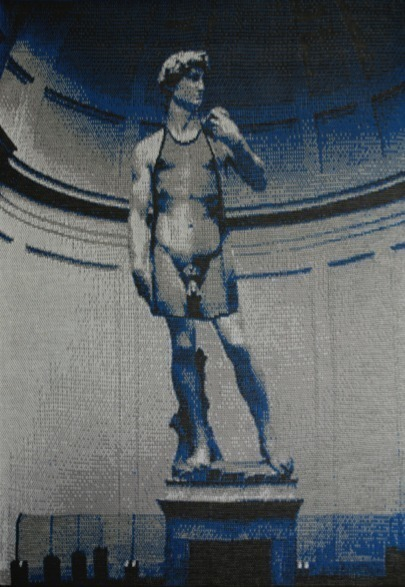 , 'David wearing an apron of David,' 2014, Cynthia Corbett Gallery