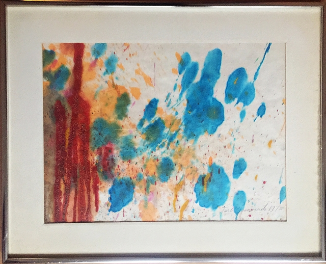 , 'Untitled Abstract Expressionist Mixed Media Painting on Paper ,' 1972, Alpha 137 Gallery