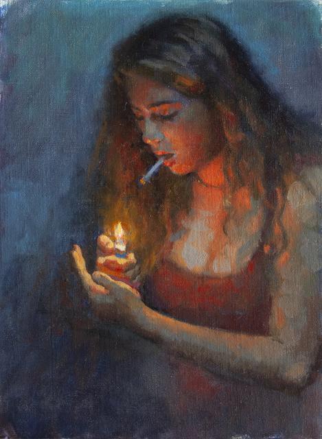 , 'KID SMOKING (TWO),' 2018, La Luz de Jesus Gallery