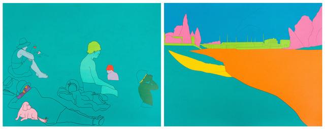 Michael Craig-Martin, 'Deconstructing Seurat (turquoise green)', 2004, RAW Editions