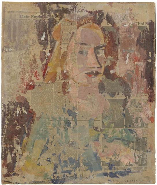 , 'Kopf einer Frau vor farbigem Grund,' 1949, Galerie Doebele