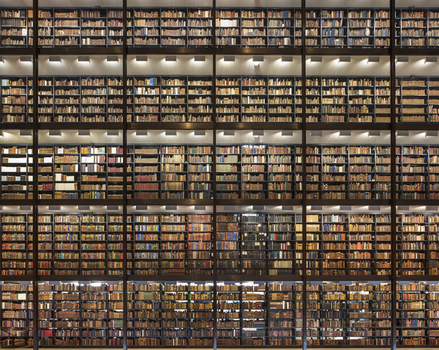 , 'Shining Wall of Books, Beinecke Library, Yale University, New Haven,' 2017, Undercurrent Projects